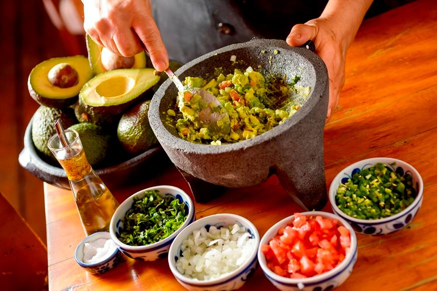 Guacamole do 11o Festival de La Gastronomía Mexicana y del Tequila no Obá